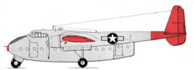 Profil couleur du Fairchild C-82 Packet