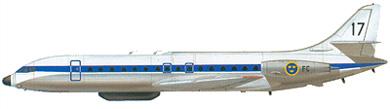 Profil couleur du Sud-Est SE.210 Caravelle