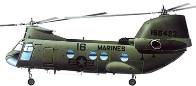 Profil couleur du Boeing Vertol CH-46 Sea Knight