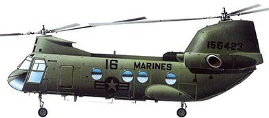 Profil couleur du Boeing Vertol CH-46 Sea Knight