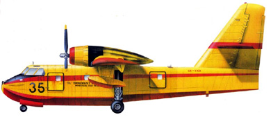 Profil couleur du Canadair CL-215