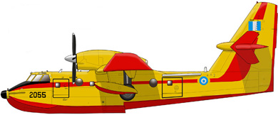Profil couleur du Bombardier CL-415 Super Scooper