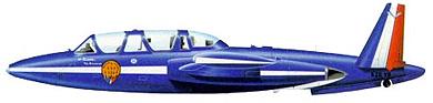 Profil couleur du Fouga CM.170 Magister