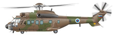 Profil couleur du Eurocopter AS.532 (EC 725) Cougar