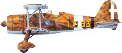 Profil couleur du Fiat CR.42 Falco