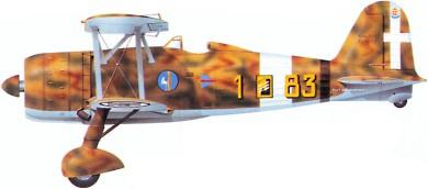 Profil couleur du Fiat CR.42 Falco