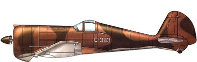 Profil couleur du Curtiss CW-21 Demon