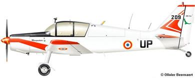 Profil couleur du Jodel D.140 Mousquetaire 'Abeille'