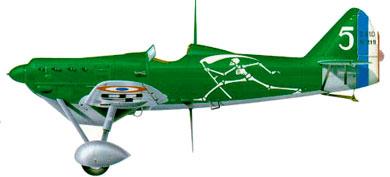 Profil couleur du Dewoitine D.500/510