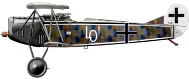 Profil couleur du Fokker D.VII