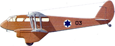 Profil couleur du De Havilland DH.89 Dominie