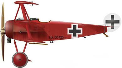 Profil couleur du Fokker Dr I