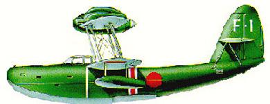 Profil couleur du Aichi E11A 'Laura'