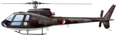 Profil couleur du Aérospatiale AS-350/AS-550 Ecureuil