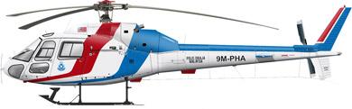 Profil couleur du Aérospatiale AS-355 Ecureuil 2