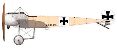 Profil couleur du Fokker E.III Eindecker