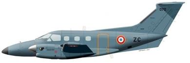 Profil couleur du Embraer  EMB 121 Xingu