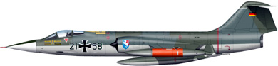 Profil couleur du Lockheed F-104 Starfighter