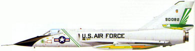 Profil couleur du Convair F-106 Delta Dart