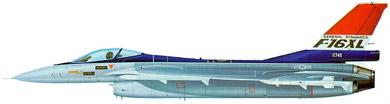 Profil couleur du General Dynamics F-16XL
