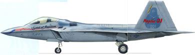 Profil couleur du Lockheed F-22 Raptor