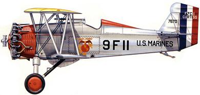 Profil couleur du Curtiss F7C Seahawk