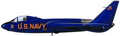 Profil couleur du Vought F7U Cutlass