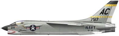 Profil couleur du Vought (L.T.V.) F-8 Crusader