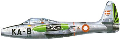 Profil couleur du Republic F-84 Thunderjet