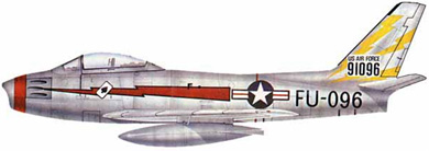 Profil couleur du North American F-86 Sabre