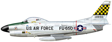 Profil couleur du North American F-86D/K Sabre Dog