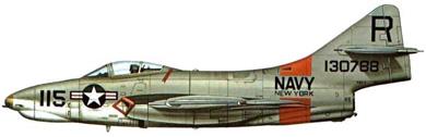 Profil couleur du Grumman F-9 Cougar