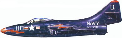 Profil couleur du Grumman F9F Panther