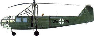 Profil couleur du Focke-Achgelis Fa 223 Drache
