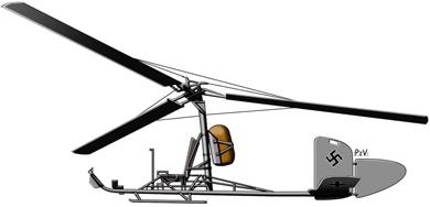 Profil couleur du Focke-Achgelis Fa-330 Bachstelze