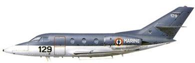 Profil couleur du Dassault  Falcon 10 MER