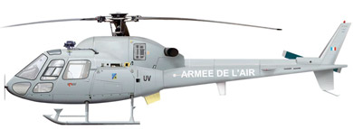 Profil couleur du Eurocopter AS-555 Fennec