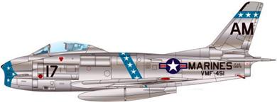 Profil couleur du North American FJ Fury