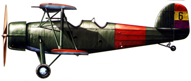 Profil couleur du Koolhoven FK.51
