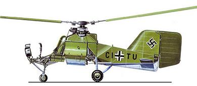 Profil couleur du Flettner Fl 282 Kolibri