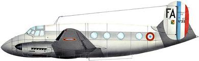 Profil couleur du Dassault MD.315 Flamant