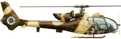 Profil couleur du Aérospatiale SA.342 Gazelle