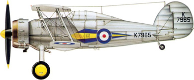 Profil couleur du Gloster SS.37 Gladiator