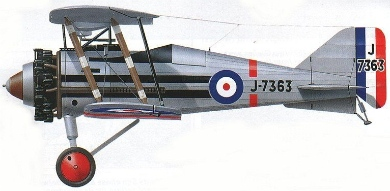 Profil couleur du Gloster Grebe