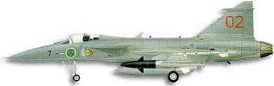Profil couleur du Saab JAS 39 Gripen