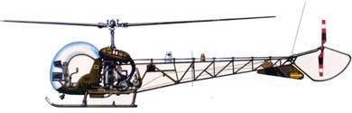 Profil couleur du Bell H-13 Sioux