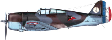 Profil couleur du Curtiss H.75 Hawk