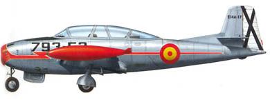 Profil couleur du Hispano HA-200 Saeta