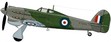 Profil couleur du Hawker Tornado