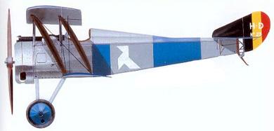 Profil couleur du Hanriot-Dupont HD.1